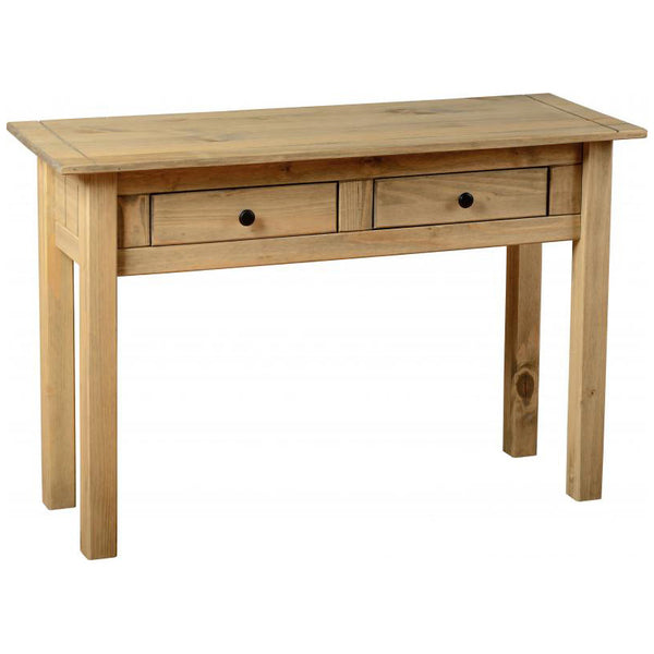Natural Wax Finish Console Table