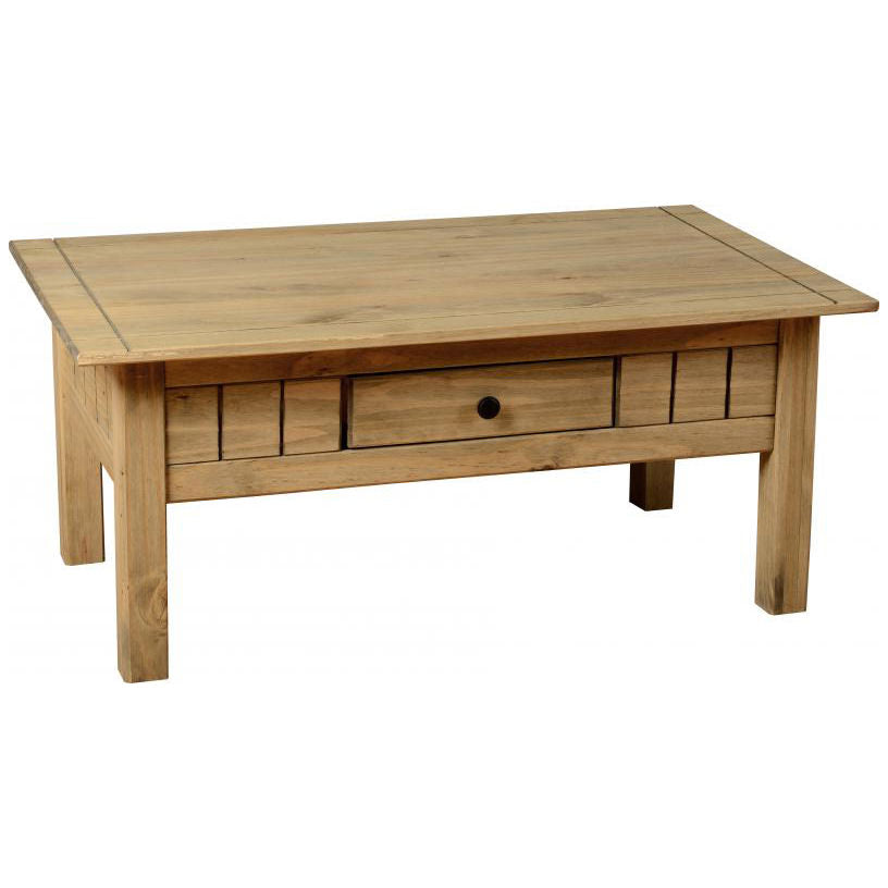 Natural Wax Finish Coffee Table