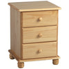 Antique Pine Finish Bedside Cabinet