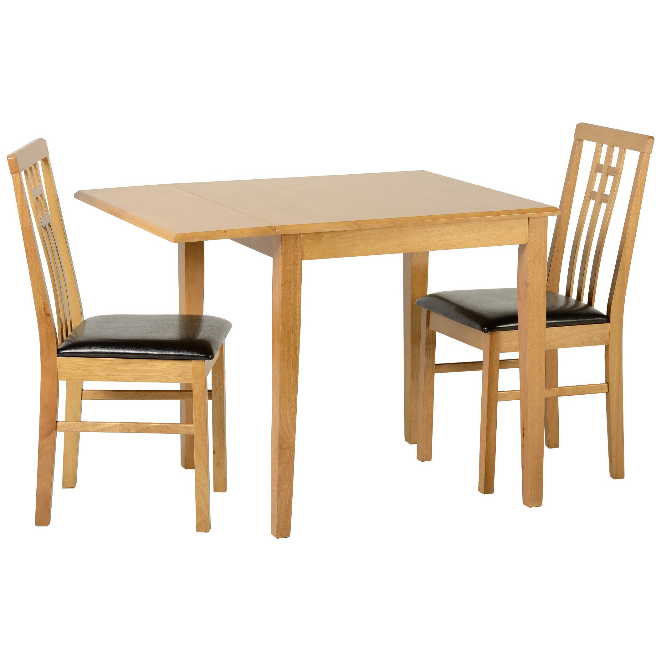 Picture of: Oak Square Extending Extendable Dining Table And Chair Set With 2 Leather Seats Turquoise Co Uk