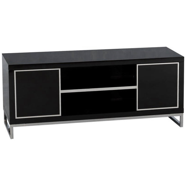High Gloss Finish & Chrome TV Unit