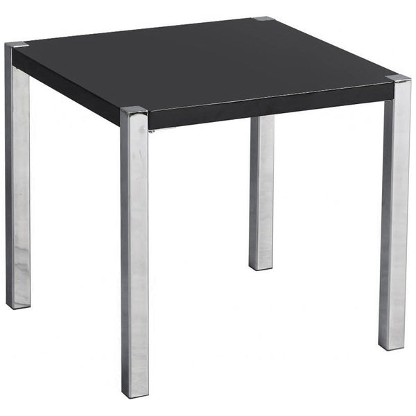 High Gloss Finish & Chrome Side Table
