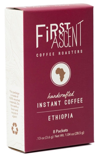 Ethiopia Instant Coffee - Box of 8 Packets
