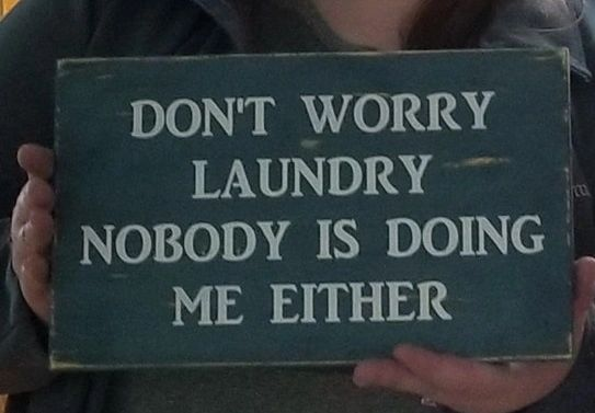 Wood Signs - Don't Worry Laundry