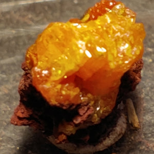 Wulfenite and Mimetite from Rowley Mine, Arizona. 2.1 cm #4072