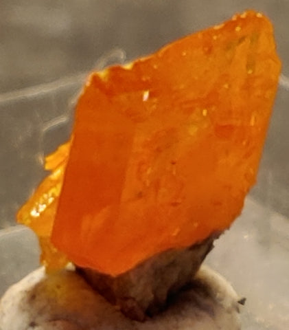 Wulfenite from Rowley Mine, Arizona. 1 cm #4087