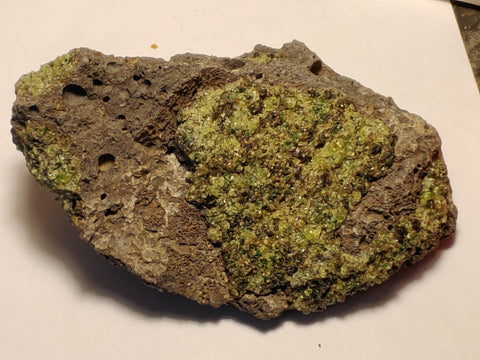 Peridot from San Carlos Reservation, Arizona. 8 cm #332