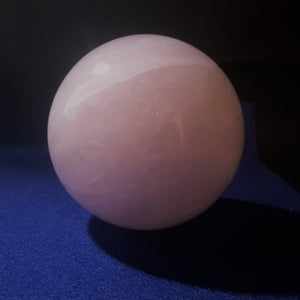 Natural Pink Rose Quartz Sphere. 9.6cm diameter. Stock #2001sl