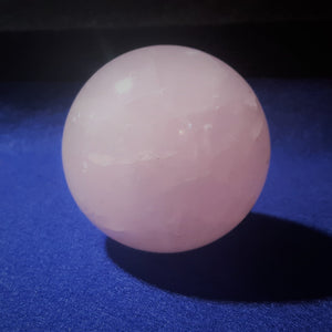 Natural Pink Rose Quartz Sphere. 7.6cm diameter. Stock #2003sl