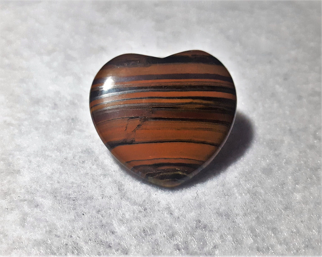 "Tiger Eye Heart, Polished 1 3/4"". Stock #238sl"