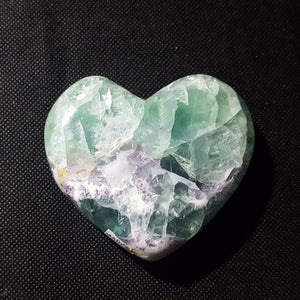 "Fluorite Heart, Mexico, 3 1/8"" Stock # 201sl"