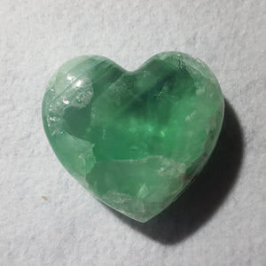 "Fluorite Heart, Mexico, 3 1/8"" Stock # 202sl"