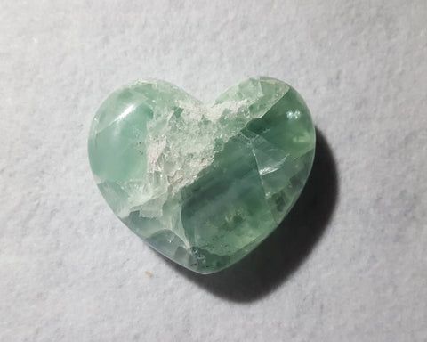 "Fluorite Heart, Mexico, 3 1/8"" Stock # 205sl"
