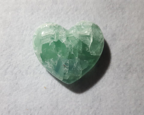 "Fluorite Heart, Mexico, 3 1/8"" Stock # 206sl"