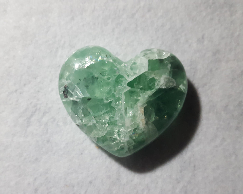 "Fluorite Heart, Mexico, 3 1/8"" Stock # 207sl"