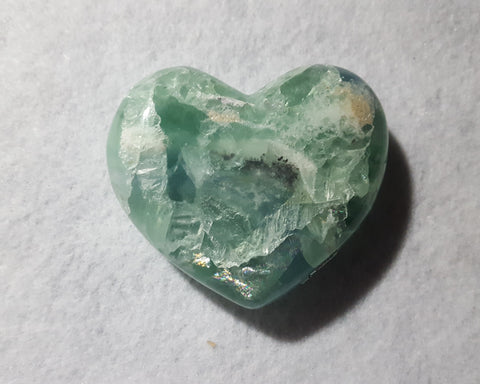 "Fluorite Heart, Mexico, 3 1/8"" Stock # 208sl"