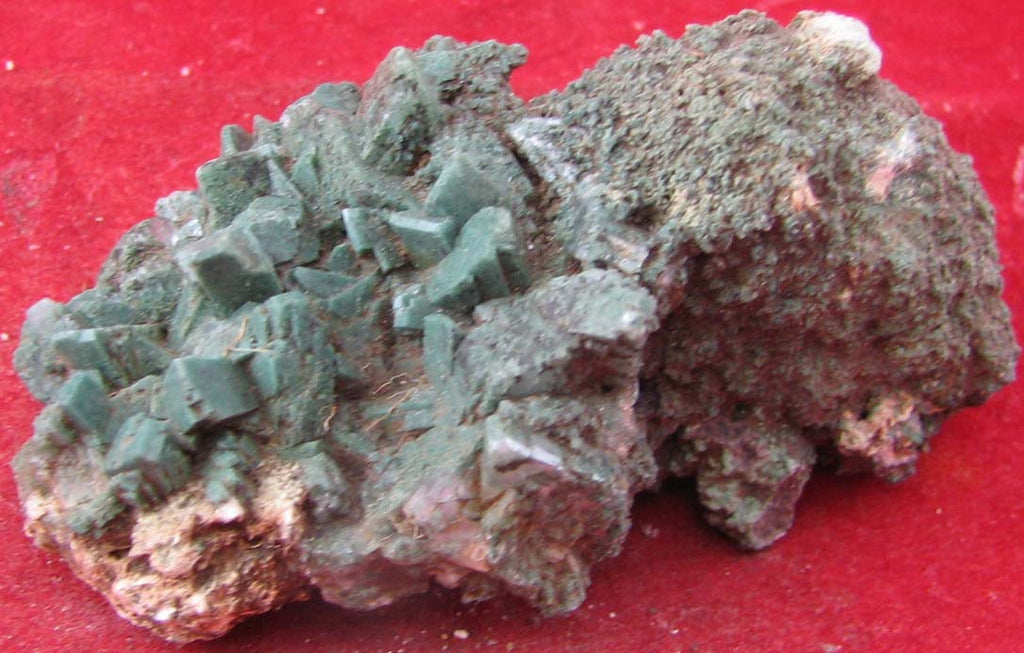 Celadonite,Included,Heulandite #3016