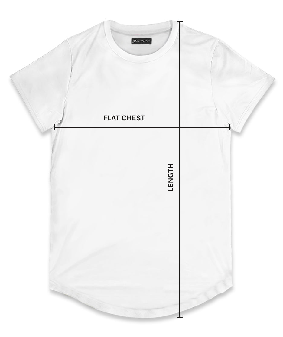 Men's Scoop T-Shirt Size Chart