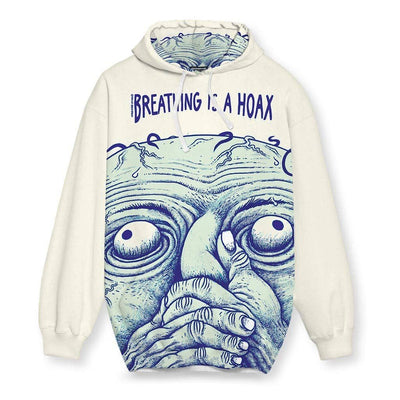 Breathing is a Hoax Hoodie