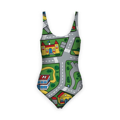 Car Carpet City Women's One Piece Swimsuit