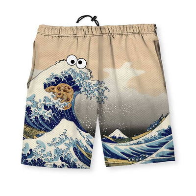 Cookie Wave Men's Gym Shorts