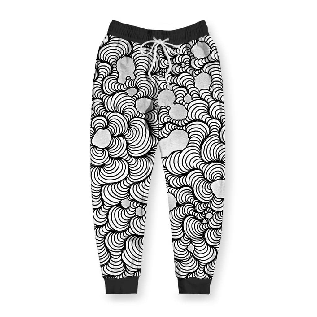 Color Wash Black & White Men's Joggers