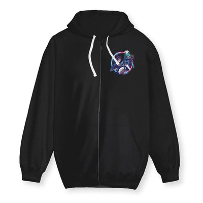 Cyber Pug Cotton Zip-Up Hoodie