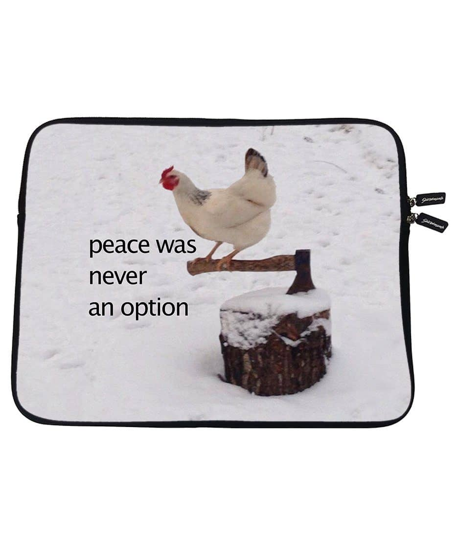 No Peace Laptop Sleeve