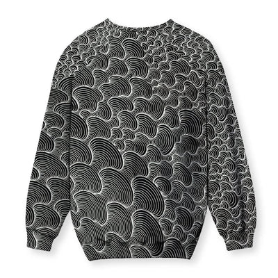 SCRIBBLEWAVE - Black & White Sweatshirt