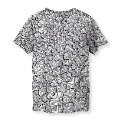 SCRIBBLEWAVE - Black & White Men's T-Shirt