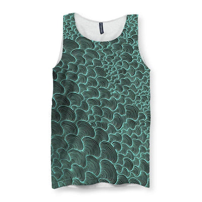 SCRIBBLEWAVE - Green Men's Tank