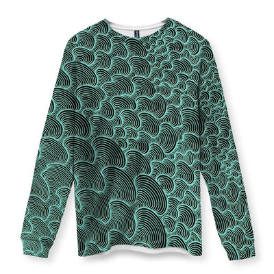 SCRIBBLEWAVE - Green Men's Long Sleeve Shirt