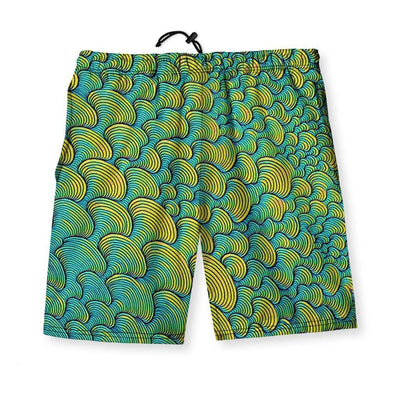 SCRIBBLEWAVE - Green Men's Gym Shorts