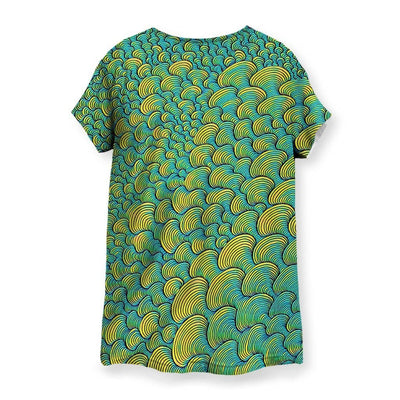 SCRIBBLEWAVE - Green Women's T-Shirt