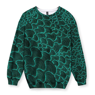 SCRIBBLEWAVE - Green Sweatshirt