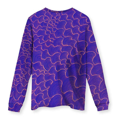 SCRIBBLEWAVE - Purple Men's Long Sleeve Shirt
