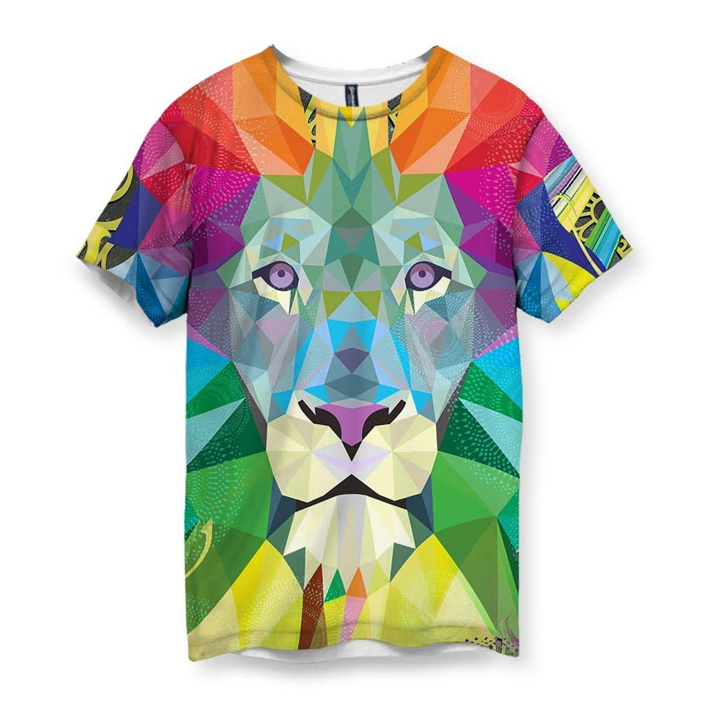 Spiritual Lion Men's Velvet T-Shirt