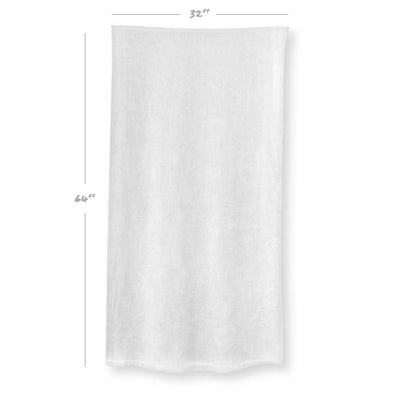 SCRIBBLEWAVE - Black & White Beach Towel