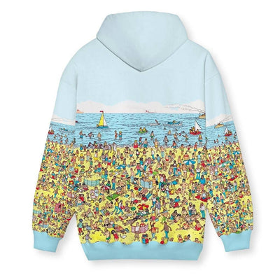 Beach Nostalgia Men's Zip-Up Hoodie