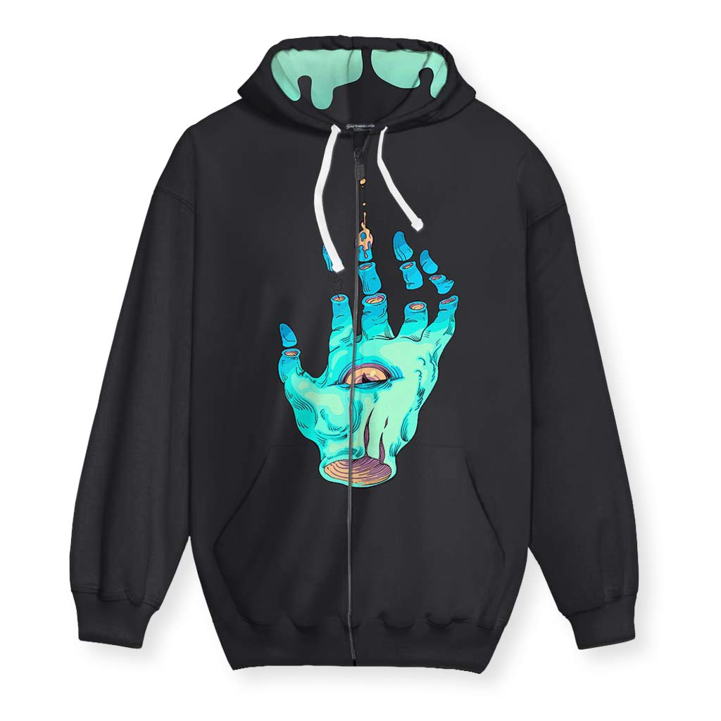 The Wizard's Hand Men's Zip-Up Hoodie