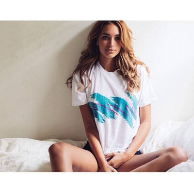 Jazzy 90s Women's T-Shirt - Dixie Cup Shirt - Product Photo