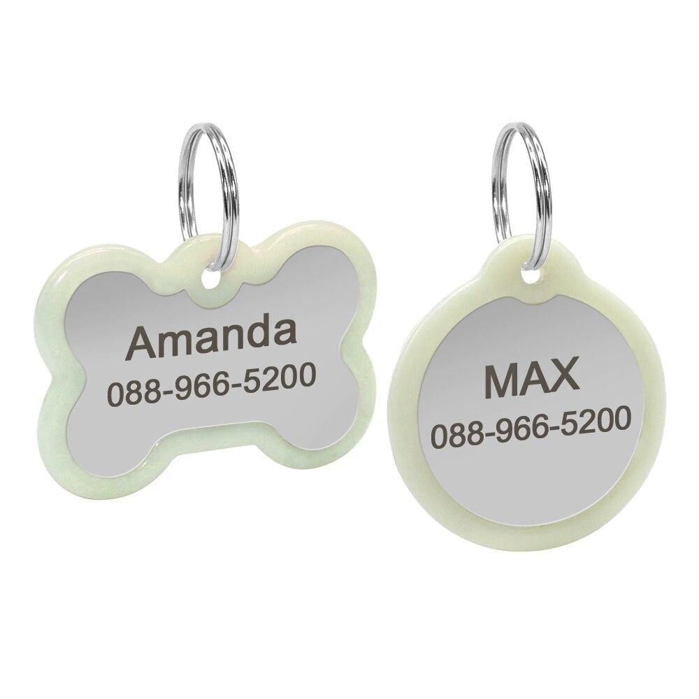 Wholesale Dog ID Tag Fluorescence Personalized - 4PawShop