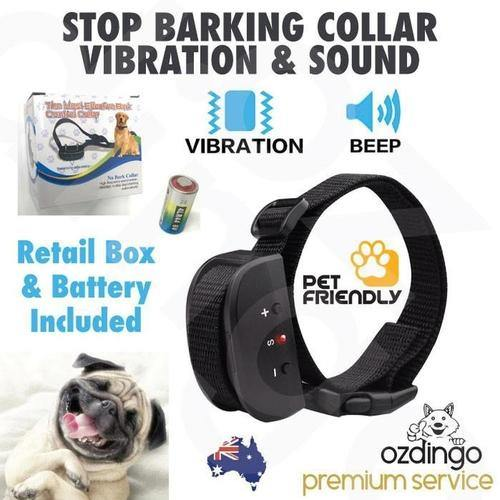 Anti Bark Dog Collar Training Sound Vibration Stop Barking Automatic - 4PawShop