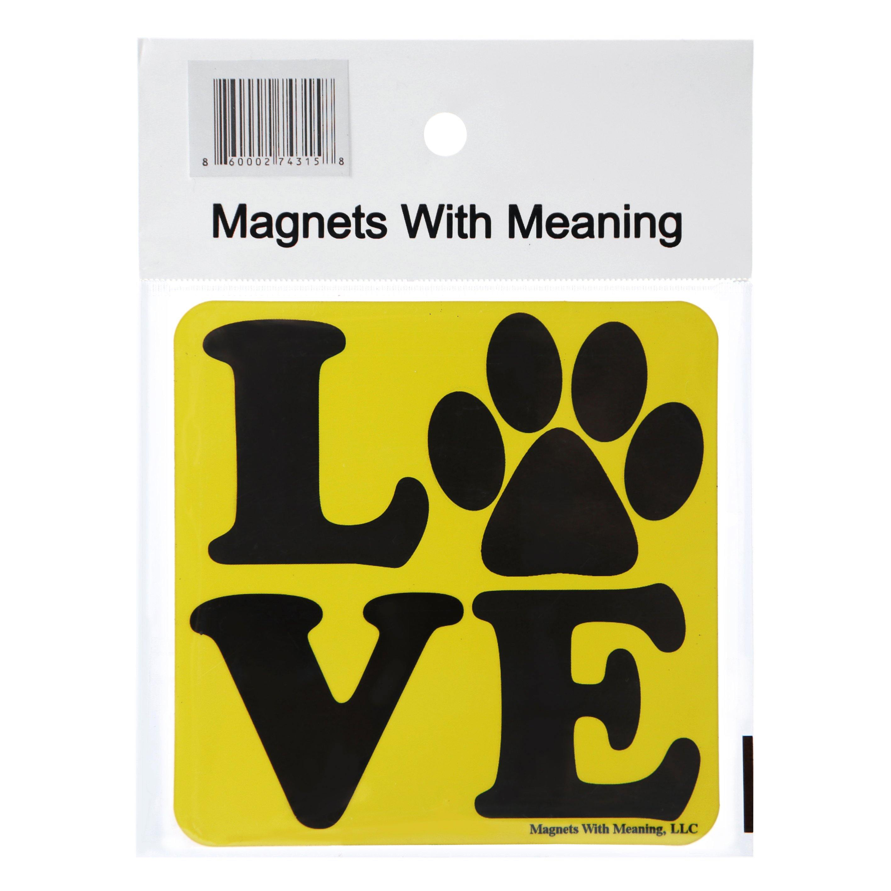 Love with Paw Refrigerator Magnet (Free shipping 4 pack) - 4PawShop