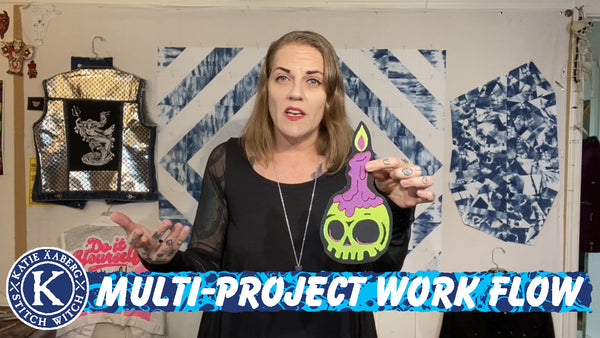 Talking about my process and how multi-project work flow (with work in progress)