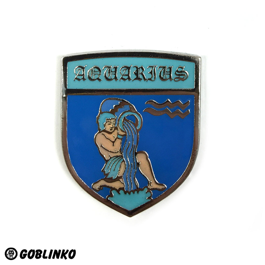 WHAT'S YOUR SIGN - AQUARIUS - ENAMEL PIN