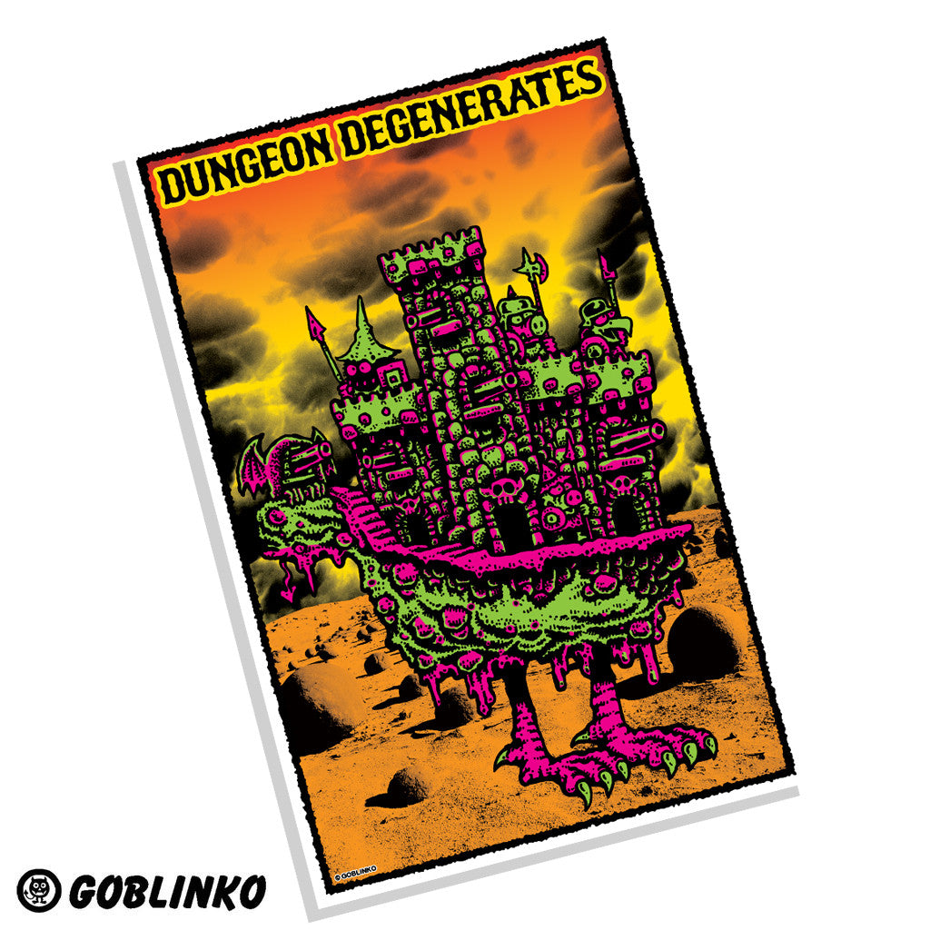 Castle Cockenballs - Dungeon Degenerates Poster