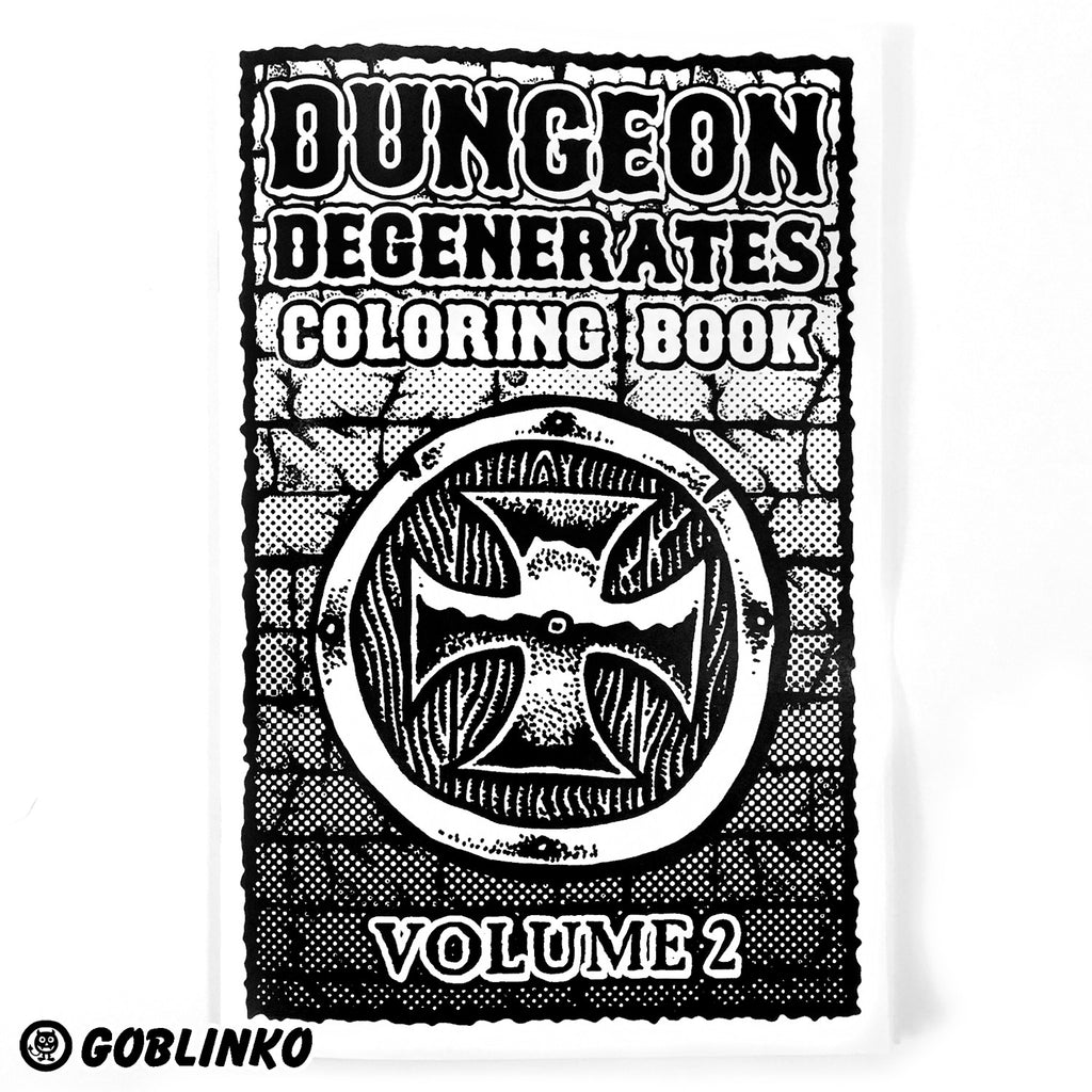 DUNGEON DEGENERATES COLORING BOOK VOL. 2