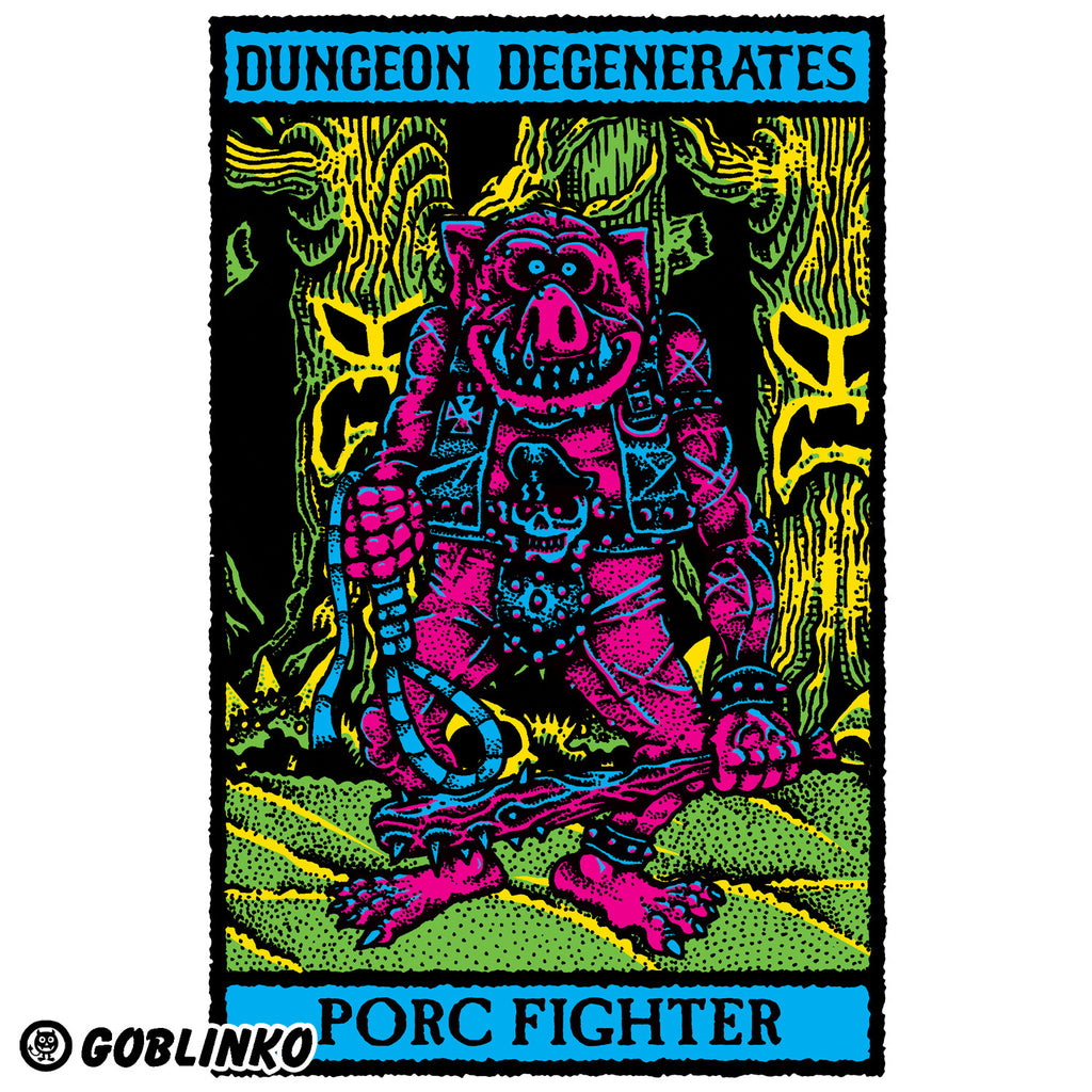 Dungeon Degenerates Poster - Porc Fighter