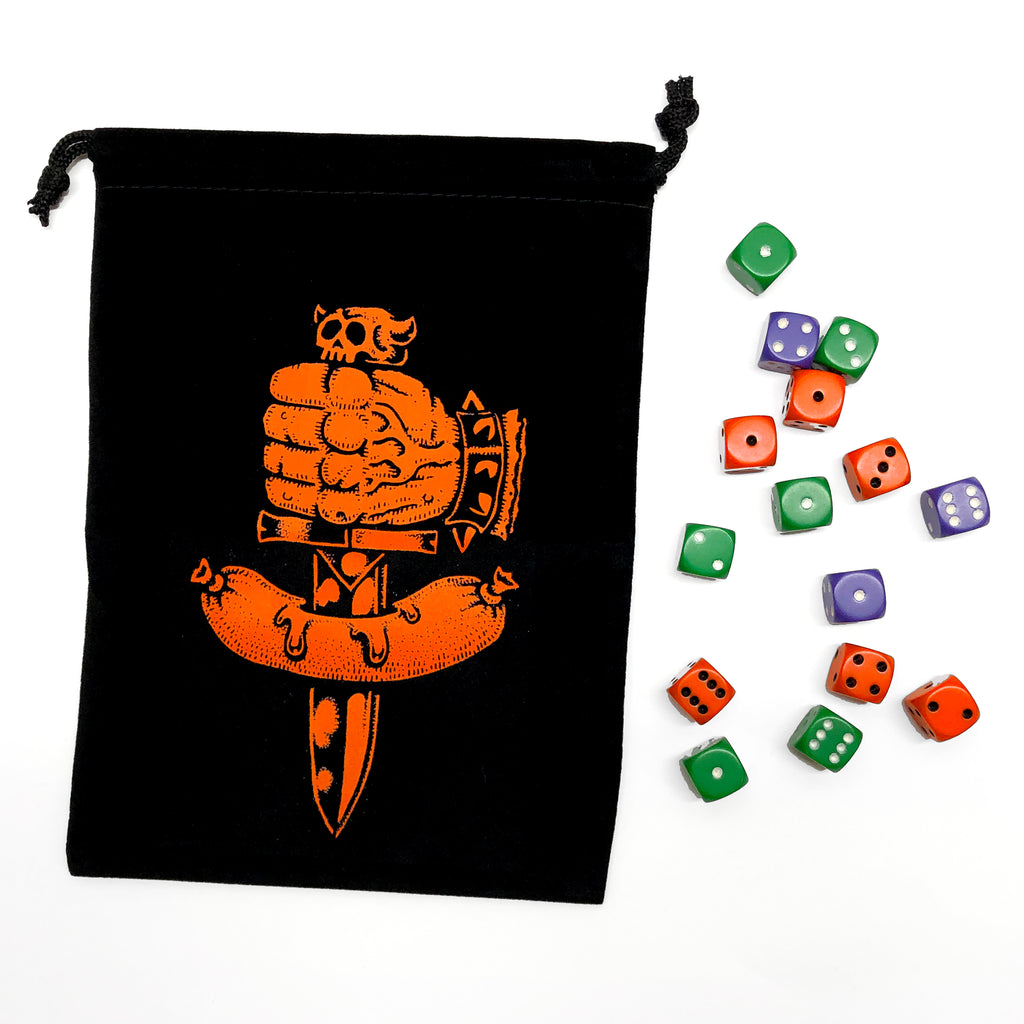 Dungeon Degenerates Dice Bag & Dice